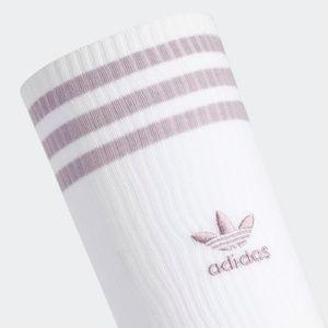adidas Thigh High Socks - White & Lavendar